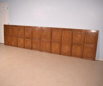 40 Feet of Inlaid Antique Boiserie/Paneling/Wainscoting in Oak Wood
