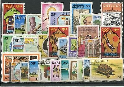 "BARBUDA  -  30  Stamps  ""  ALL   DIFFERENT  "" ."