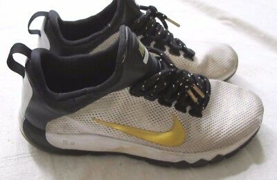 ceb069efadec Pre-Loved Men s White Gold + Black NIKE - PAID IN FULL Sneakers Size 9