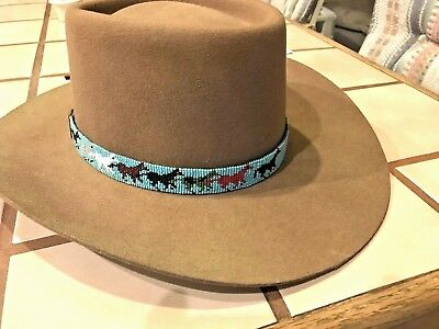 NATIVE   Southwest INDIAN BEADED HEAD OR HAT BAND RUNNING PONYS handmade.