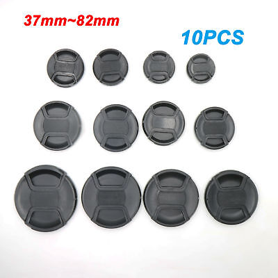 37mm ~ 82mm 10X Snap-on Camera Front Lens Cap Cover for Canon Leica Nikon Sony