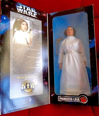 """PRINCESS LEIA Star Wars 12"""" Figure Carrie Fisher Collector Series Doll NEW 1996"""