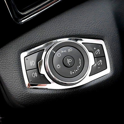 For 12- Ford Focus Kuga Chrome Fog Head Light Lamp Switch Button Cover Trim A