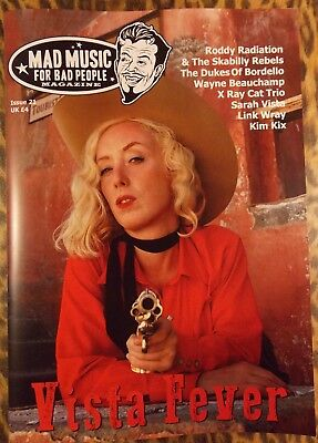 MAD MUSIC FOR BAD PEOPLE Issue 21 Rockabilly magazine (NEW) Psychobilly