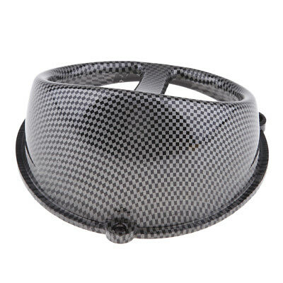 Carbon Fiber Look Air Scoop Fan Cover Cap for GY6 125cc 150cc Engine Scooter