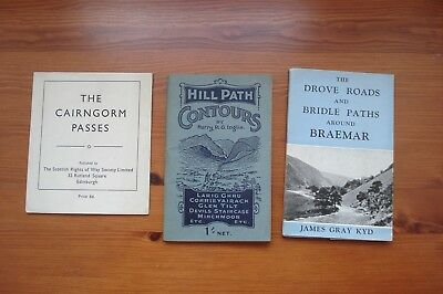 1950's GUIDES to CAIRNGORM HILL PATHS, DROVE ROADS and PASSES (3 Books)