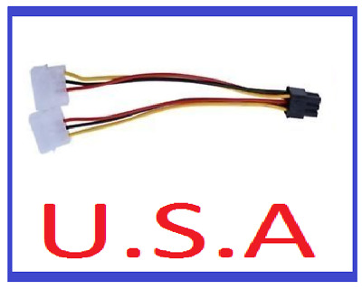 Graphics Card Power Adapter/4 to 6 Pin/Converter/Molex/PCI-E/Video/Cable/PC/B-42