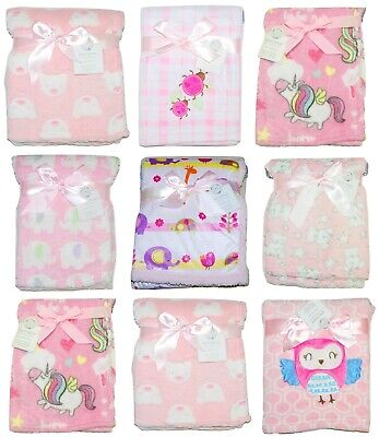 Baby Girl Pink Blanket Soft Fleece