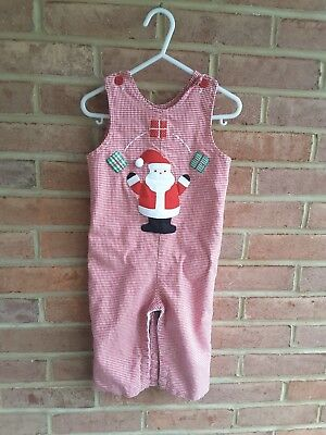 Funtasia Too Reversible Jumper  Christmas Santa Houndstooth USA made size 2T
