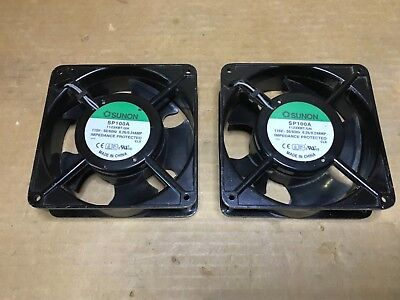 (Lot of 2) Sunon SP100A Axial Cooling Fan 1123XBT.GN, 115V, 50/60 Hz, 0.26/0.24A