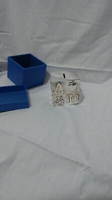 Silver Plated Abc & Animal Child's Money Box ~ Christening ~ Baby Gift