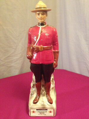 Vintage Canadian Mist Red Mountie Decanter~1969~Empty Decanter Whiskey