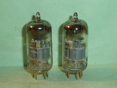 Amperex 7308 E188CC D Getter PQ Tubes-Matched Pair, Tested, NOS, NIB, 1960 Codes