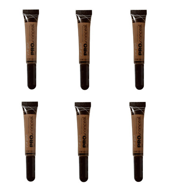 L.A. Girl Pro Conceal HD High Definition Concealer Dark Cocoa 8g x6