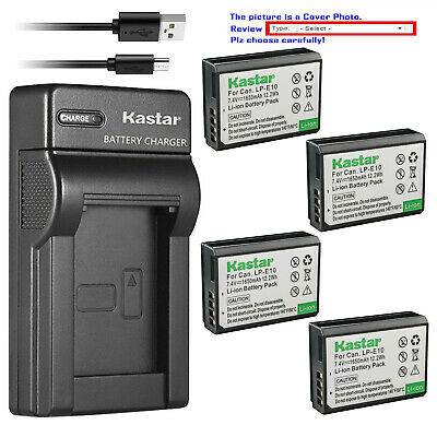 Kastar Battery Slim Charger for Canon Genuine LP-E10 LPE10 Canon LC-E10 LC-E10N