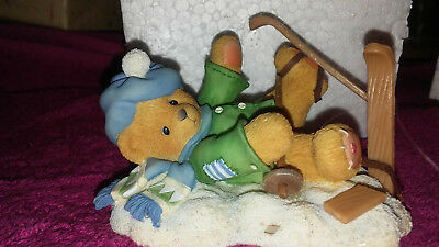 """Cherished Teddies #2697543 Spencer """"I'm Head Over Skis For You"""" 1997"""