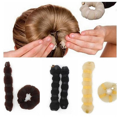 NEW Sponge Hair Styling Donut Bun Maker Magic Former Ring Shaper Styler Tool CAL