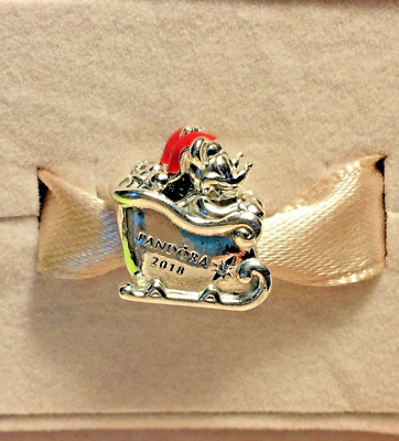 NEW Disney Parks Pandora Charm Christmas Holiday 2018 Mickey Mouse Sleigh Exclus