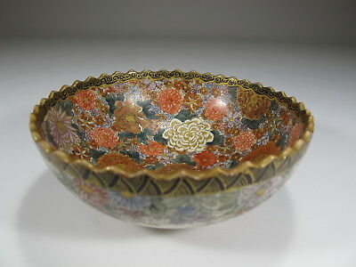 Antique Japanese Satsuma porcelain bowl # D8965