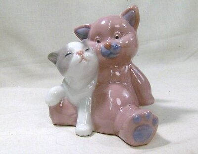 LLADRO/NAO Two Cute Cats