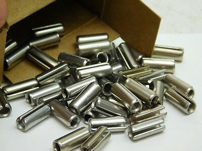"50 PACK! 420 Stainless Steel Slotted Roll Spring Pin 1/4"" Dia x 5/8"" Length NH"