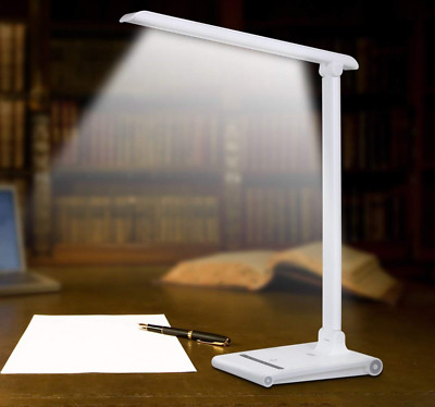LE LED Desk Lamp Dimmable Office Lamp with USB Charging Port Wireless Charger