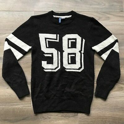 b24a82932d90 H&M Divided Black Crewneck Sweater Men's Size X-Small Jersey Style Acrylic  Blend