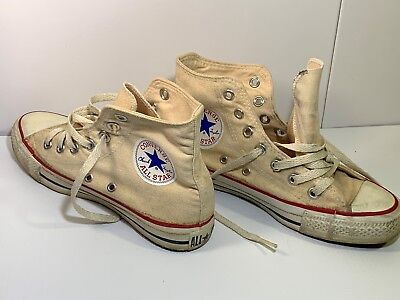81dc9ec6d1 VINTAGE 70 s CONVERSE CHUCK TAYLOR ALL STAR Made in USA High Top Size 4 ...