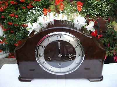 Superb Smiths Bakelite Westminster Chiming Mantel Clock. 1952.  Fully Overhauled