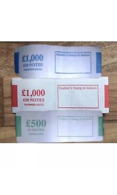 10 X £5 + £10 + £20 Money Bands Currency Straps UK Notes New Polymer Notes