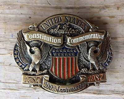 United States 200th Anniversary Constitution Commemorative Belt Buckle 1787-1987