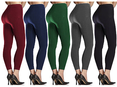 New Womens Ladies Thick Winter Lining Thermal Fleece Leggings Size 8-18