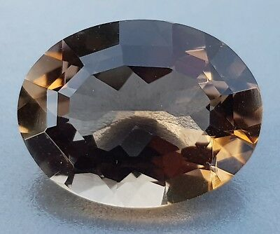 WaterfallGems 12.47ct Smoky Quartz Oval, 18x14mm