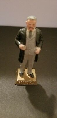 Vintage Theodore Roosevelt 26th President 1960's Marx Toys Miniature Statue EX+