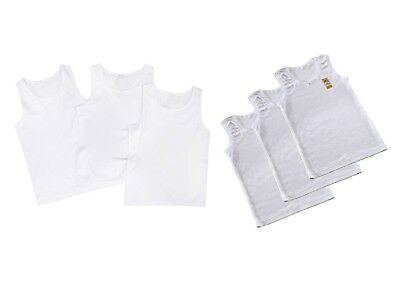 3, 6 Pck Kids Boys Girls Vests White Cotton Children Summer Tank Top School Wear