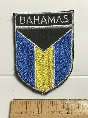 Bahamas Bahamian National Flag Yellow Blue Embroidered Patch Badge