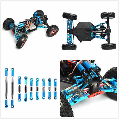 9pcs RC Car Upgrade Parts Linkage Pull Rod For 1/12 Wltoys 12428 Desert Buggy