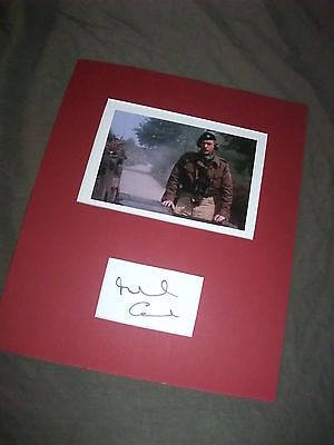 Sir Michael Caine, Bridge Too Far signed photo, VERY RARE, Actor Militray WW2
