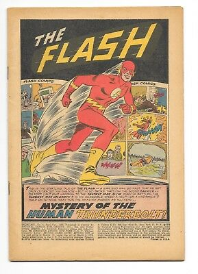 Showcase Comics # 4, Coverless But Otherwise Complete, 1St Silver Age Flash