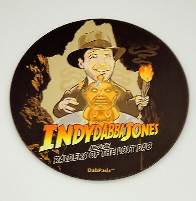 """IndyDabba Jones Novelty Mouse Pad Dab Mat 8"""" Fast Shipping"""