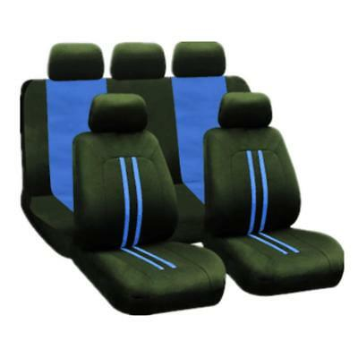 Universal Car Seat Covers 9Pcs Full Set Front Rear Seat Back Head Rest Protector