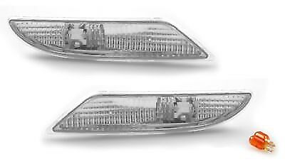 07-09 MERCEDES Benz S-CLASS W221 CLEAR BUMPER SIDE LIGHTS Pair S550 S600