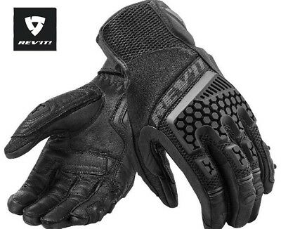 Revit sand 3 breathable Leather summer Gloves for Touring adventure with iTouch