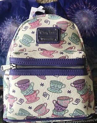0ec38c10514 NEW Disney Parks Loungefly Mini Backpack Tea Cups from Alice in Wonderland  Bag