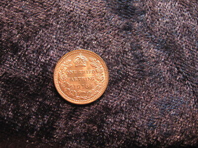 1 tiny old world coin GREAT BRITAIN 1/3 farthing 1913 KM823 King George V