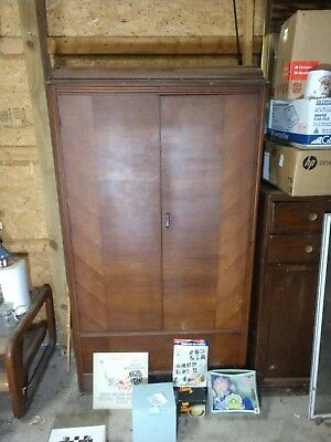 Antique Cedar Armoire Furniture With Contents
