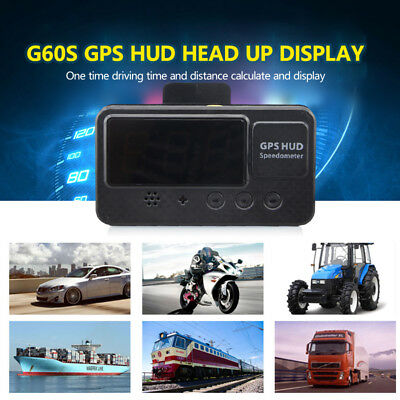 Auto Car HUD GPS Speedometer Digital Speed Display Motorcycle Holder KM/h MPH B