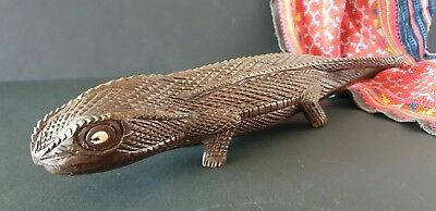 Old Papua New Guinea Solomon Islands Carved Gecko Lizard …beautiful collection..