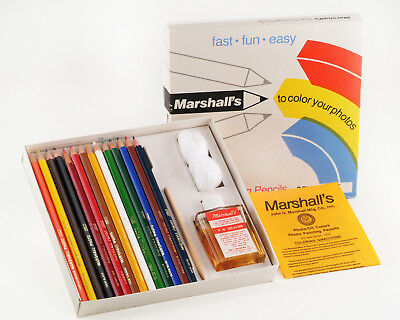 Marshalls Photo Coloring Deluxe Set. Very Nice Complete.