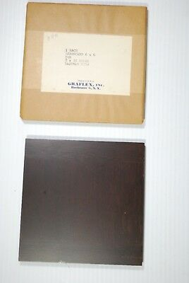 "1 Wooden Lens Board  6""x 6"" for 2D Eastman / B&J 8"" x 10""- of Cherry/dark finish"